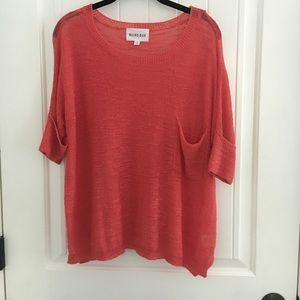 Olive and Oak lightweight coral sweater